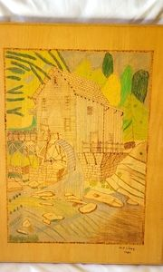 Woodburning original art